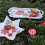 weihnachtliche Schalen